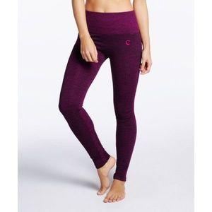 Climawear pink/black seamless leggings sz medium